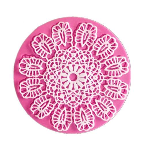 1Pcs Silicone Lace Mold Sugar Craft Fondant Mats Cake Dessert Decor Baking Tool