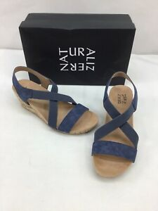 Naturalizer Mexico Navy Blue Wedge