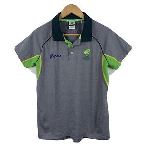 Asics-Cricket-Australia-Womens-Polo-Shirt-Top-Size-10-Short-Sleeve