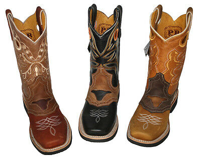 Children youth sizes cowboy boots leather square toe rodeo Style#PR811J