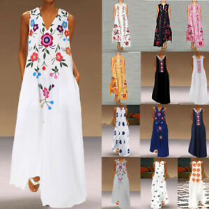 Women-Floral-Long-Dress-Party-Evening-Prom-Dresses-Printed-Maxi-Sundress-Loose