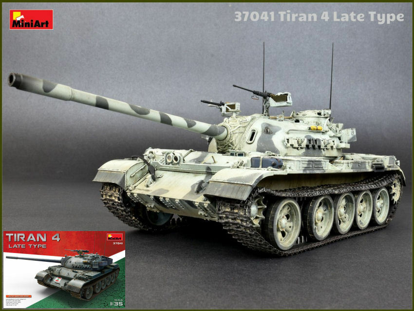 Tiran 4 Medium Tank Late Type Plastic Kit 1 35 Model MINIART