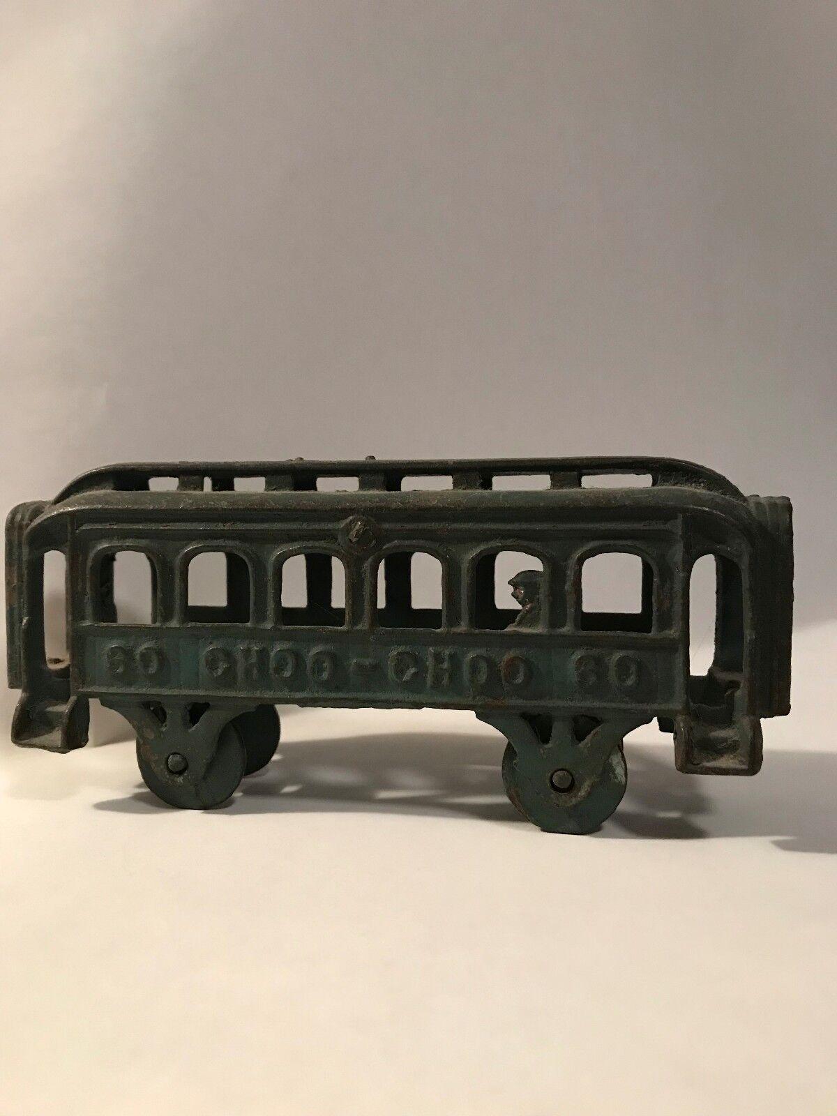 AC Williams Cast Iron verde Train Car