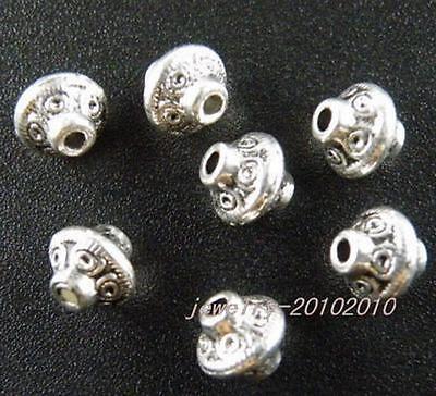 40pcs Tibetan Silver Barrel Big Hole Spacers 11x10mm 14098