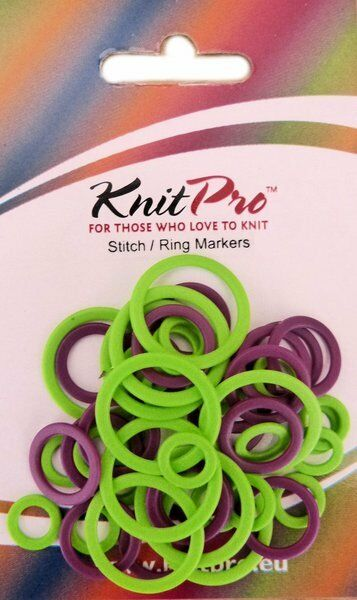 KnitPro Plastic Ring Stitch Markers Pack of 40