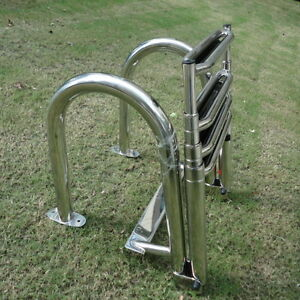 Newly Stainless Steel Inboard Rails Boat 4 Step