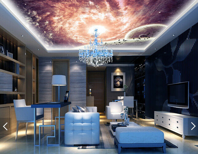 3D Pattern Planet 436 Ceiling WallPaper Murals Wall Print Decal AJ WALLPAPER US