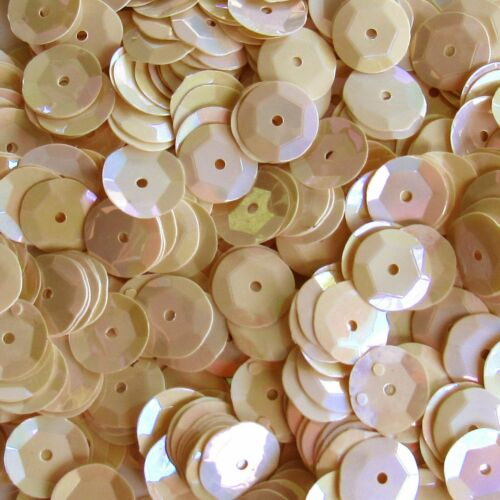 Sequins Opaque Light Ecru Iris 10mm Round Cup 240//2,800 pieces Loose HQ