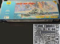 Zvezda 9043 1/350 Wwii German Destroyer Z-17 Diether Von Roeder Plastic Model