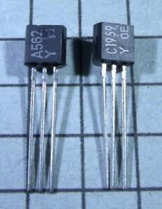 2SA562-amp-2SC1959-A562-C1959-TO92-3-pair-per-Lot