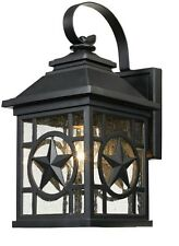 Outdoor Patio Porch Exterior Light Fixture Wall Lantern Sconce Rustic  Lighting