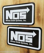 2x NOS W Tuning Adesivo/adesivi Oldschool quasi Furious auto USA Drag Racing