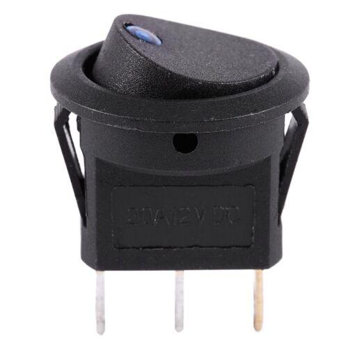 20X 12V LED Wechselrichter schaukelnd Wippenschalter RUNDEN SPST ON-OFF fueA9W7
