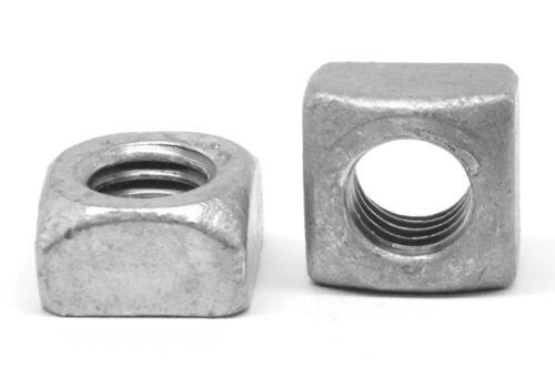 """1//4/""""-20 Coarse Thread Grade 2 Regular Square Nut Hot Dip Galvanized"""