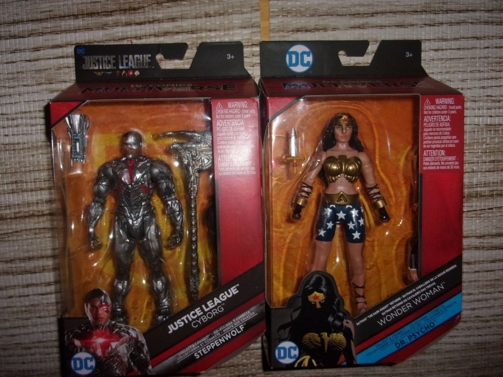 DC WONDER WOMAN & JUSTICE CYBORG  (LOT OF 2 FIGURES) SEALED