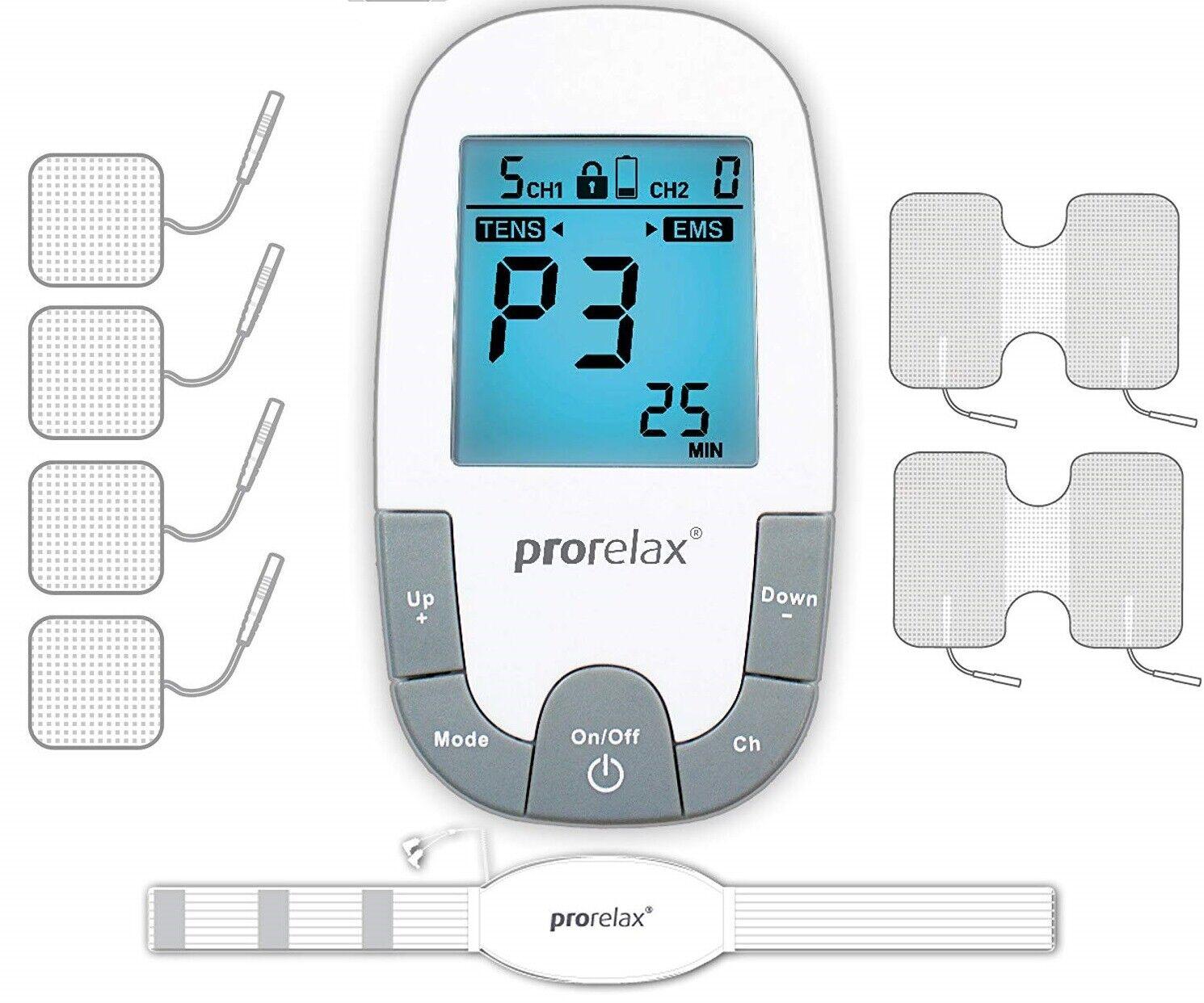 Prorelax TENS-EMS SuperDuo Plus Dispositivo per Elettrostimolazione