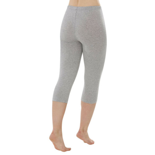 comazo Damen Caprihose Leggings ohne Seitennähte Bio-Baumwolle