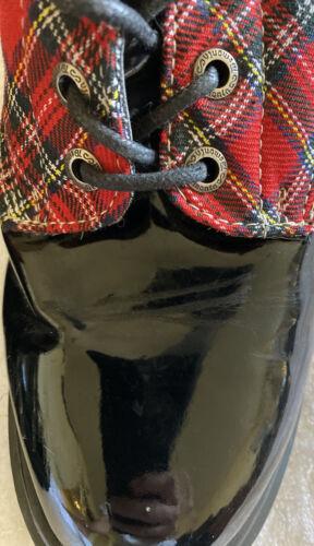 Demonia US 12 women PLaid Combat Style Boots, Wome