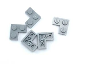 Lego-5-New-Light-Bluish-Gray-Plate-Pieces-2-x-2-Corners