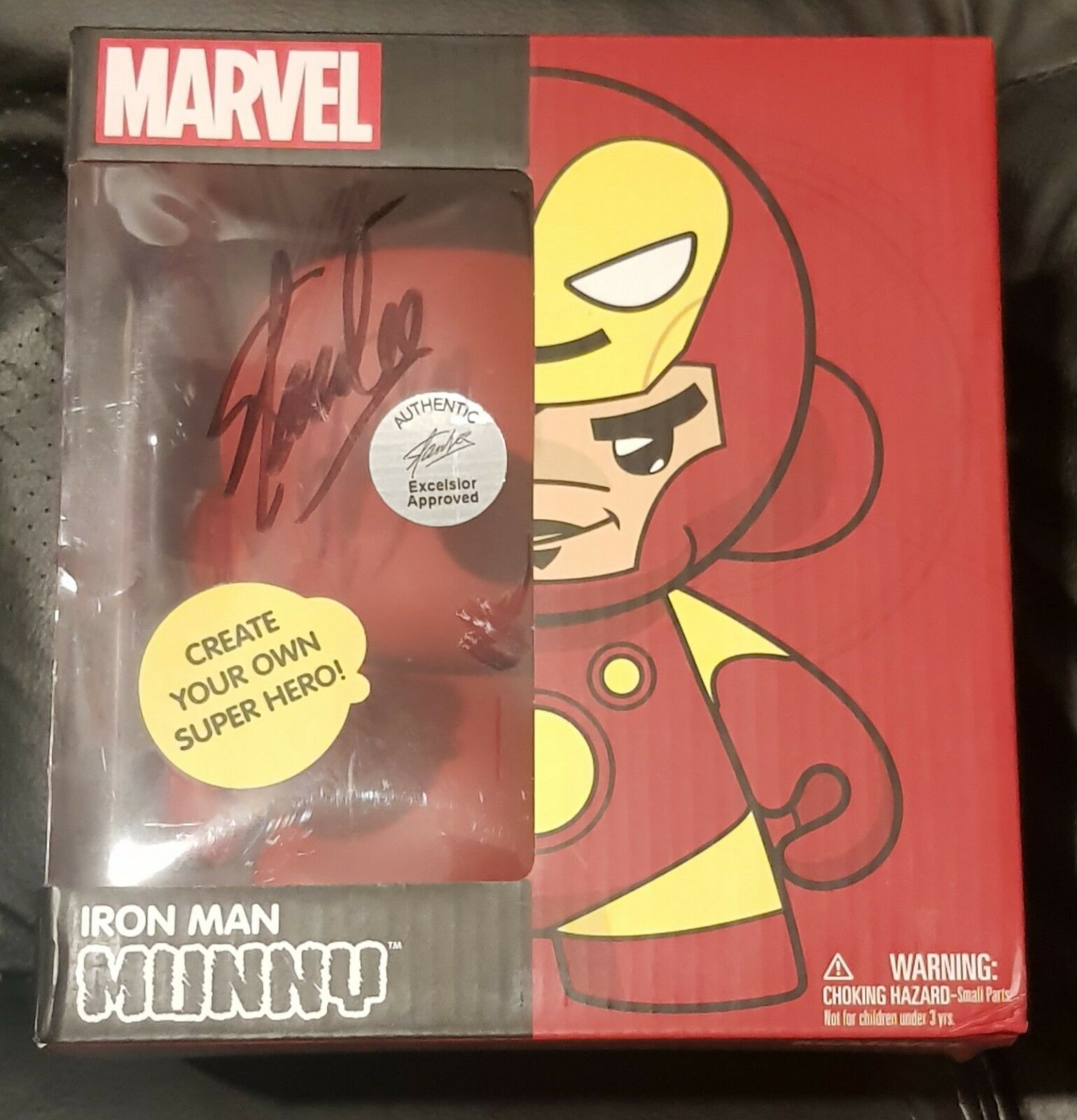 Marvel Stan Lee firmado Iron Man Munny Kidrobot Mundial