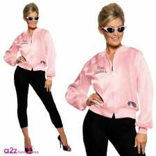 Womens Official Licensed Grease Pink Lady Jacket 1950s Film Fancy Dress Costume