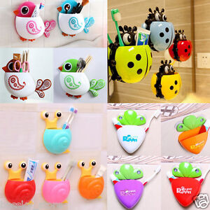 Creative-Animal-Home-Toothbrush-Toothpaste-Holder-Case-Wall-Mounted-Suction-L