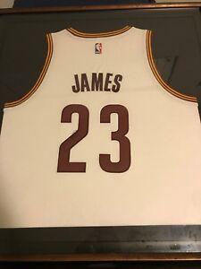 best website 28d66 7bbe2 Details about LeBron James Signed #23 Cavaliers Home Jersey Autographed  Framed 34x38 UDA COA