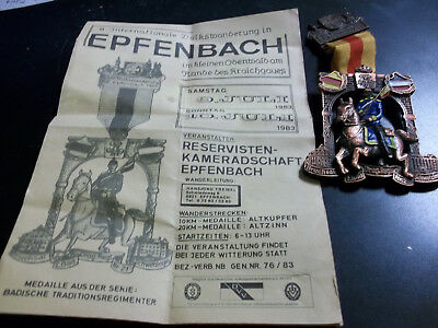 Coins & Paper Money Intern.volksmarsch Careful 1983 Epfenbach Medal With Horse Gruwort Zum 8 Medals