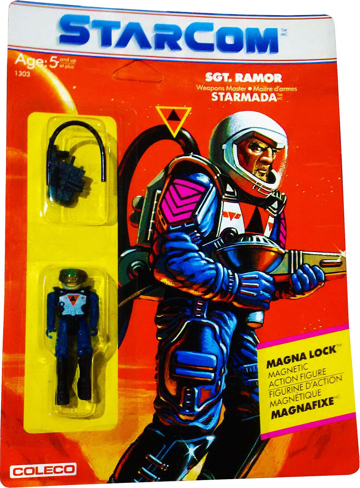 StarCom ™ Sgt. Ramor Figura De Acción-Vintage 1986-como nuevo en tarjeta sellada  nuevo  figura De Acción autoridad él