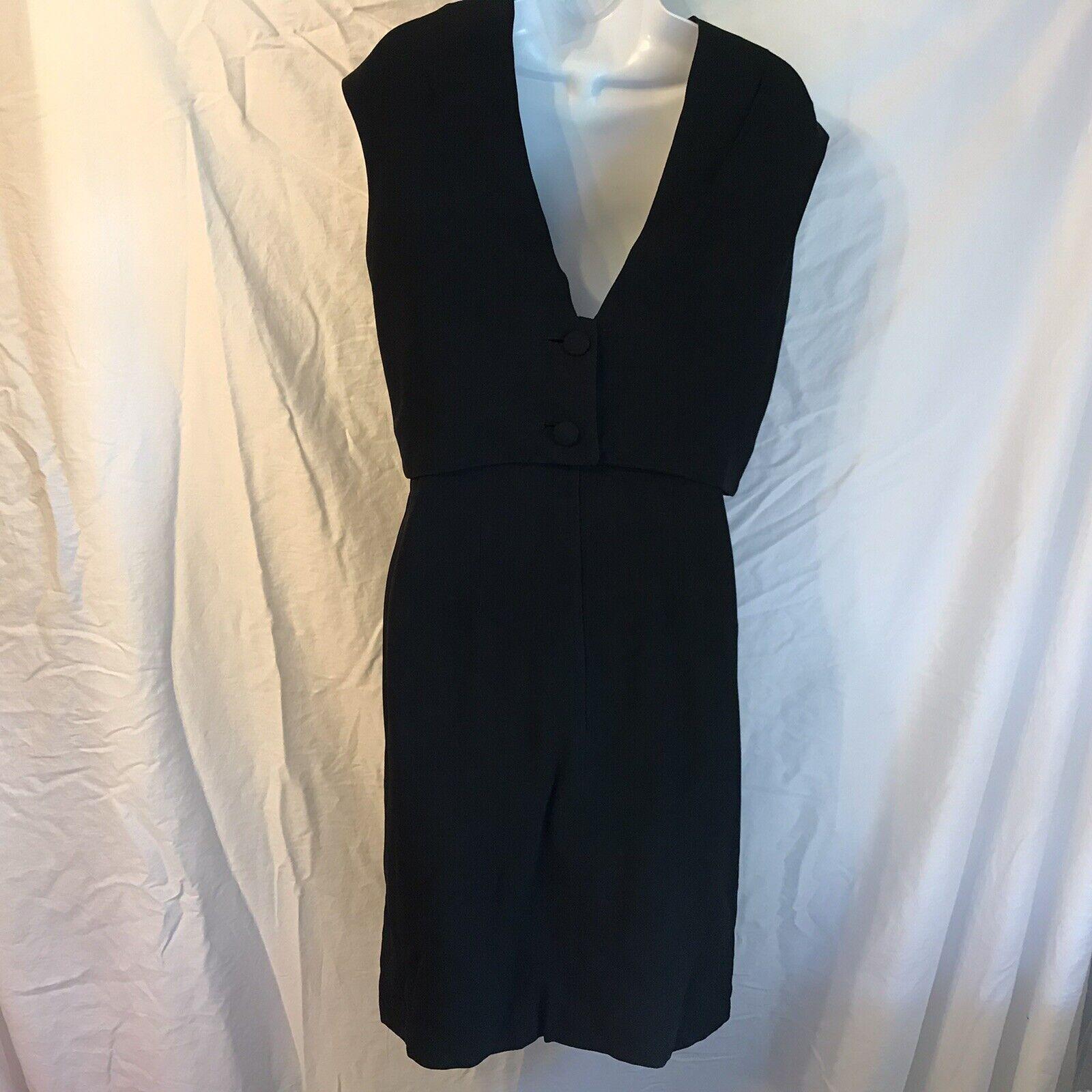 Ceil Chapman Vintage Black Dress - image 9