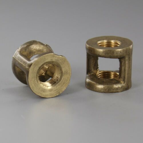 """1//8 IPS x 1//8 IPS SOLID Brass Hickey ~ 3//4/"""" Tall ~ Lamp Repair Parts ~ #YB04"""