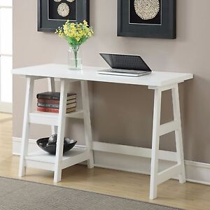 Computer desk white small space apartment writing office teen wood kid dorm nice ebay - Kid desks for small spaces collection ...