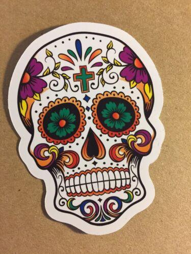 día de los muertos Azúcar Calavera Mexicana-Pegatina