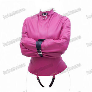 Women's Straitjacket PU Leather Strict Kinky Straight Jacket Kinky ...