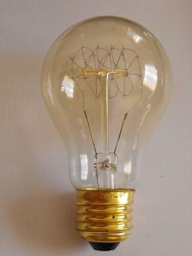 Deko Glühlampe 60W leuchtet ähnlich wie eine Kohlefadenlampe !! sehr selten