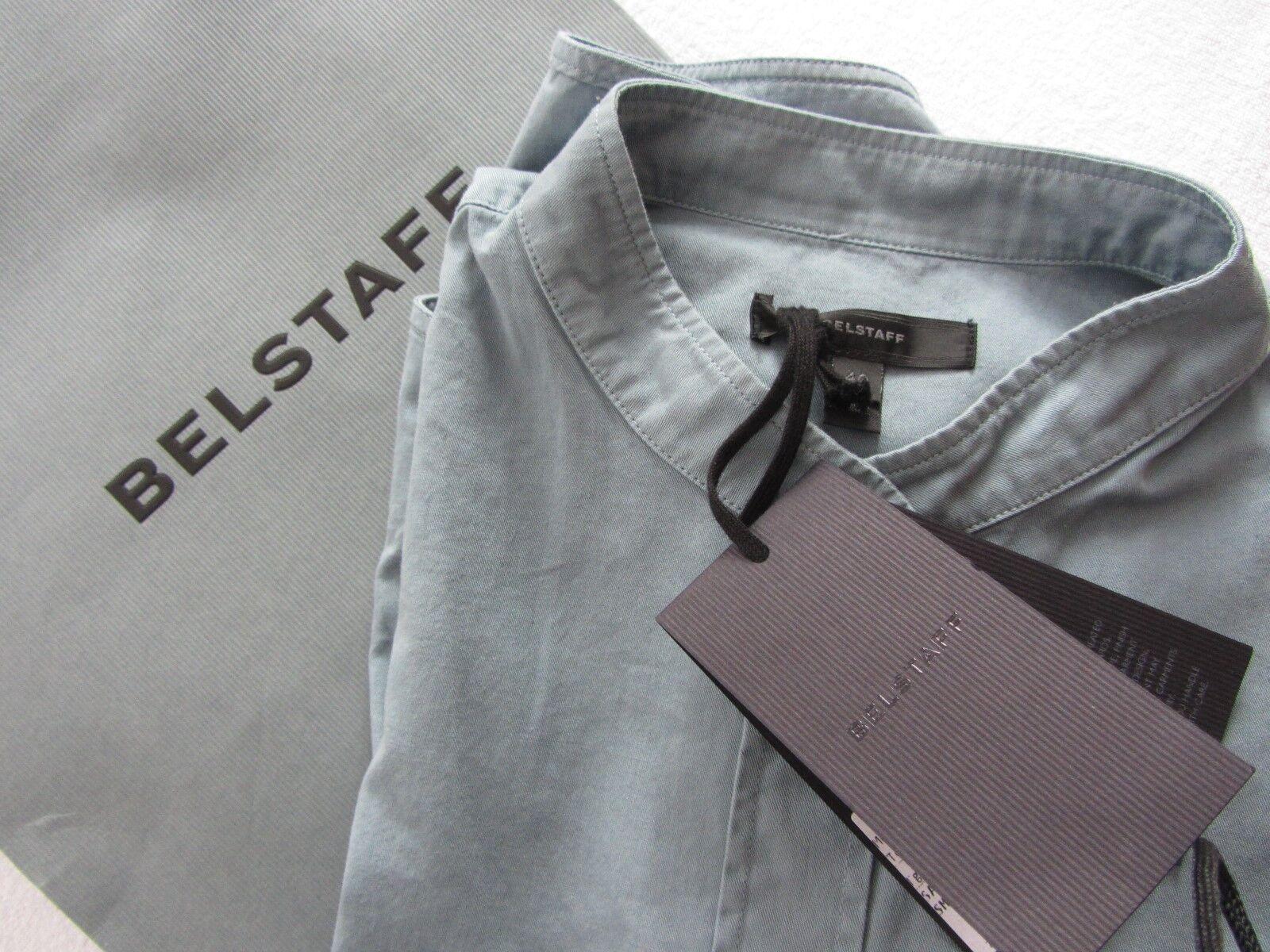 Belstaff SMOKEY Blau Stehkragen Bluse 36 / S
