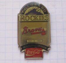 COCA-COLA / MLB COLORADO ROCKIES / ATLANTA BRAVES  ... Baseball Pin (135k)