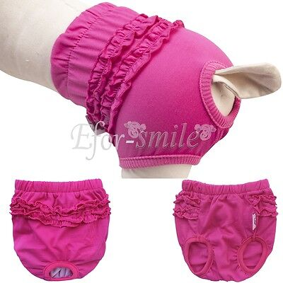 Female Dog Puppy Physiological Pants Diaper Sanitary Underwear Nappy XS S M L