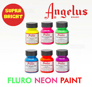 Fluro-Neon-Paint-Angelus-Super-Bright-Colors-For-Leather-Synthetic-amp-crafts