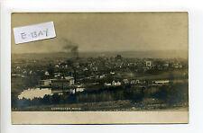 Leominster MA Mass RPPC real photo birds eye view, mill, smokestack, homes early