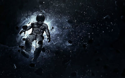Framed Print Astronaut Floating Away In Space Picture Poster