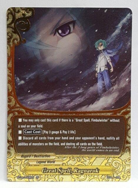Bushiroad Future Card Buddyfight Great Spell, Ragnarok BT04/S006EN
