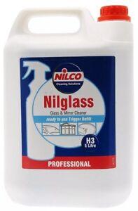 5-Liter-Nilco-Professional-nilglass-Glas-Spiegel-Reiniger-5L-Auto-Fenster-H3-Refill