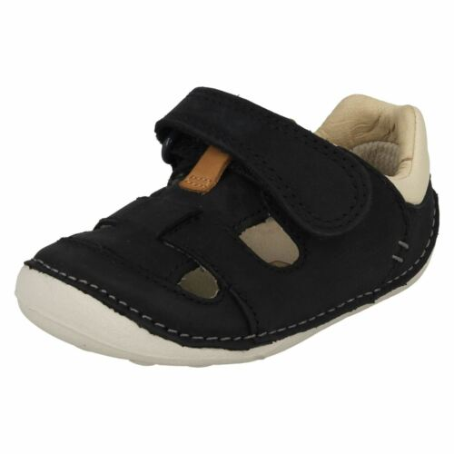 Clarks Cruisers Niños Marino Zapato Cuero Pequeño Ceniza Azul Primer 88xHrZw