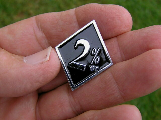 2%er Diamond shape lapel pin badge.   G020602