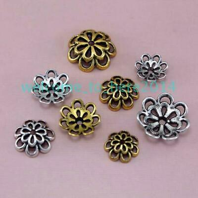 Spacer End Bead Caps 20Pcs Flower Charm Beads Jewelry Making Bracelet Accessory
