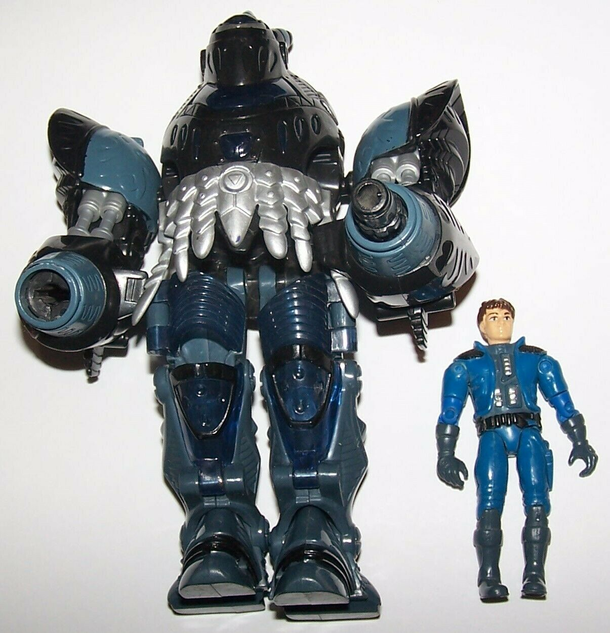 Vintage 1995 ExoSquad Wolf Bronski with Medieval Knight E-Frame Action Figure