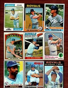 Details About Vintage Lot 1970 78 Kansas City Royals Baseball Cards George Brett Wilson Rc