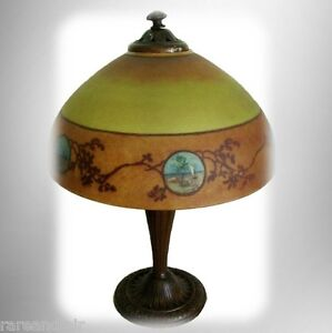 jefferson vintage antique table lamp rev painted shade. Black Bedroom Furniture Sets. Home Design Ideas