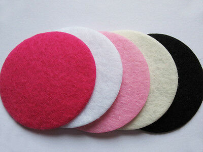 50 Wool Felt Hard 30mm Circle -5 colors AO030-2